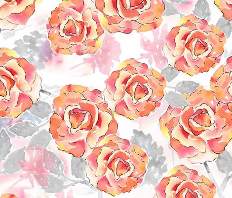 Texas Modern Big Roses fabric by jacinda on Spoonflower - custom fabric