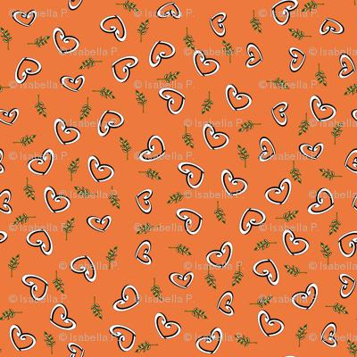 Peace Hearts - Orange