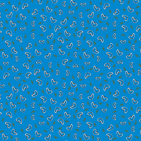 Peace Hearts - Blue fabric by inscribed_here on Spoonflower - custom fabric