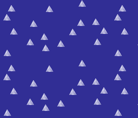 stripey triangle blue fabric by cristinapires on Spoonflower - custom fabric