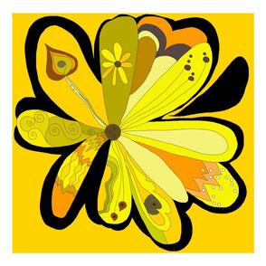 Square yellow daisy