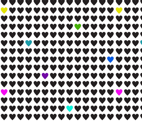 Retroish Hearts fabric by jnifr on Spoonflower - custom fabric