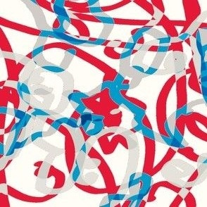 kjpzz's scribble ribbons-red,white and blue