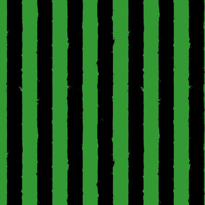 distress stripe black green