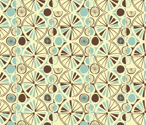BICYCLE_WHEEL_COORDINATE fabric by gsonge on Spoonflower - custom fabric