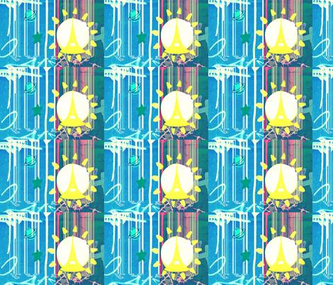 parisiandream_blue fabric by _vandecraats on Spoonflower - custom fabric