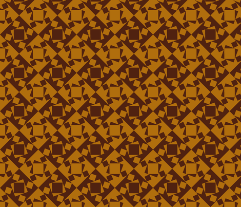 checkewed_-_caramel chew fabric by glimmericks on Spoonflower - custom fabric