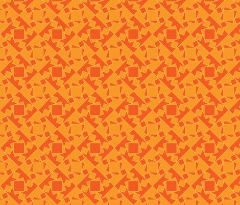 checkewed_-_orange u sweet fabric by glimmericks on Spoonflower - custom fabric