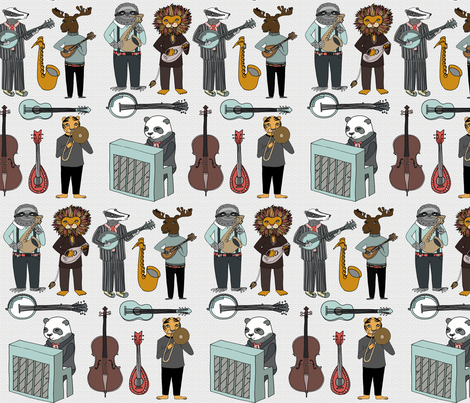 Amazing Animal Alphabet Band - Boy fabric by andrea_lauren on Spoonflower - custom fabric