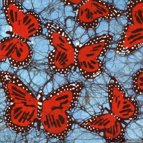 monarch batik, mirror repeat fabric by hooeybatiks on Spoonflower - custom fabric