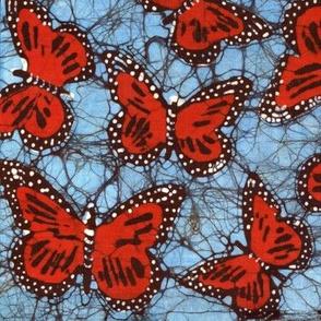 monarch batik, mirror repeat