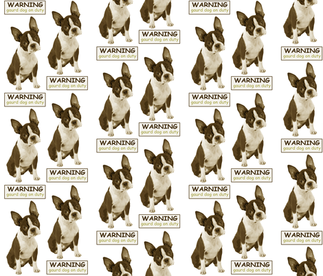 boston terrier  fabric by littlerhodydesign on Spoonflower - custom fabric
