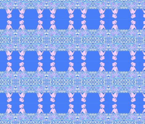Girls Talking fabric by _vandecraats on Spoonflower - custom fabric