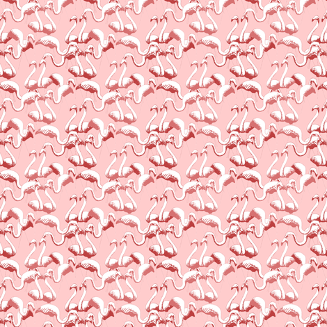 Plastic Flamingos (Pink) fabric by seidabacon on Spoonflower - custom fabric