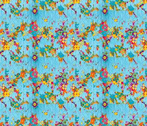Paint Peel Floral fabric by thirdhalfstudios on Spoonflower - custom fabric