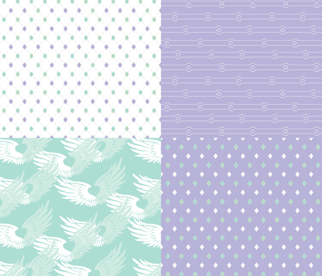 Pastel Coordinates fabric by penina on Spoonflower - custom fabric