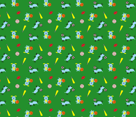 Sporty Dogs fabric by wastedwings on Spoonflower - custom fabric