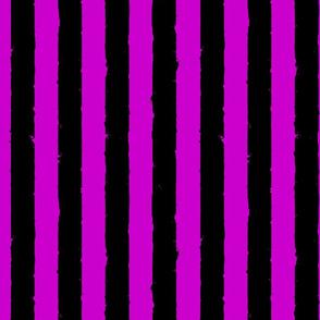 distress stripe black magenta