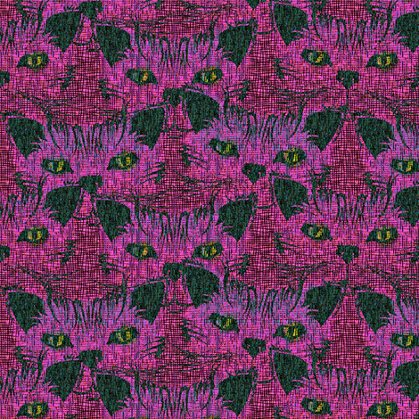 Look Into Our Eyes...Hot Pink Love fabric by glimmericks on Spoonflower - custom fabric