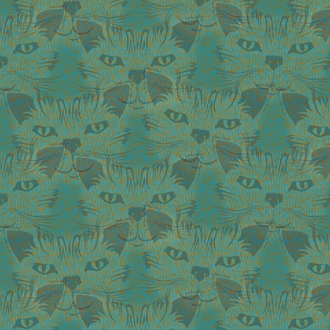 Look Into Our Eyes ... Blue Alleys fabric by glimmericks on Spoonflower - custom fabric