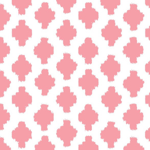 Spring Whimsy: True Pink Ikat