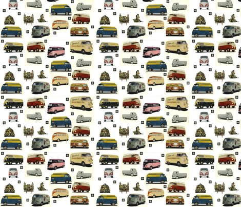 volswagen_kleinbuses fabric by vinkeli on Spoonflower - custom fabric