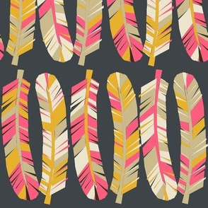 feathers // tribal boho southwest feathers print for girls