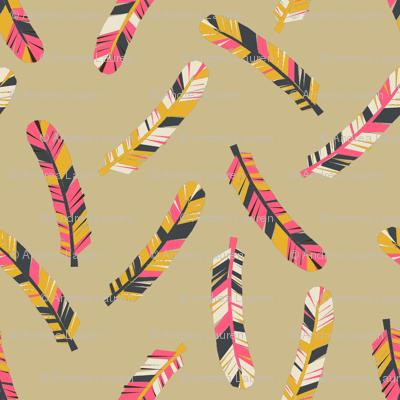 feathers // boho southwest tribal feathers design