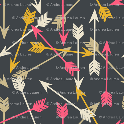 arrows // tribal southwest tribal design scattered arrows illustration pattern