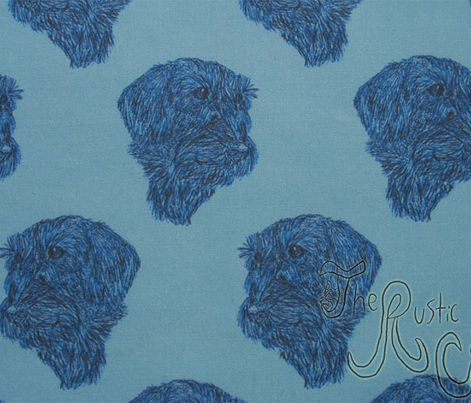 Wire-haired Dachshund sketch - blue