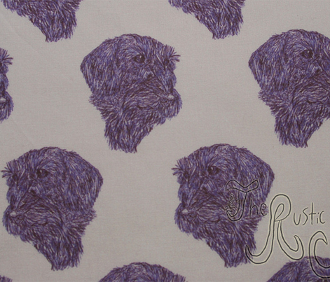 Wire-haired Dachshund sketch - purple
