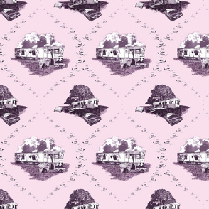 Trailer Trash Toile (Pink), Smaller