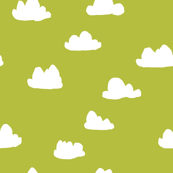 clouds // celery green cool scandi gender neutral clouds
