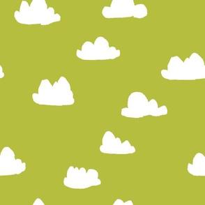 clouds // celery green cool scandi gender neutral clouds