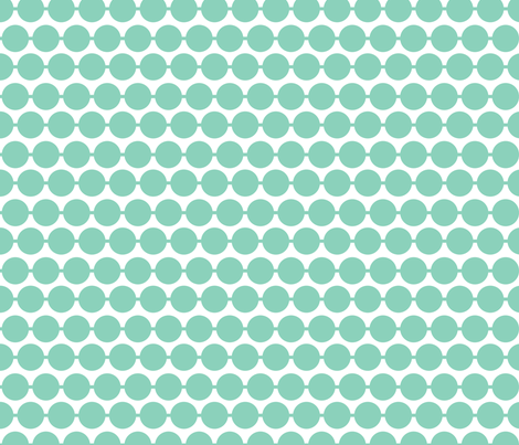 Dot_Aqua fabric by walrus_studio on Spoonflower - custom fabric