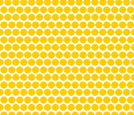 Dot_Goldenrod fabric by walrus_studio on Spoonflower - custom fabric