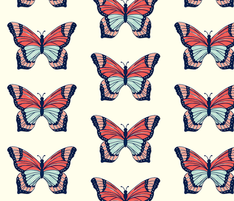 Bold_Butterfly fabric by stacyiesthsu on Spoonflower - custom fabric