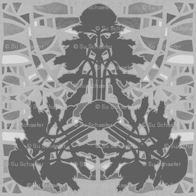 Triangular waratahs in grays by Su_G