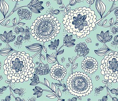 Flower_Fun fabric by stacyiesthsu on Spoonflower - custom fabric
