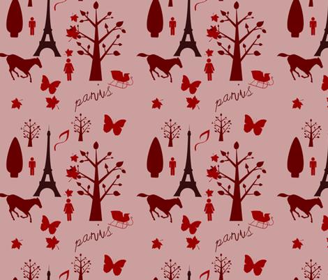 paris toile de jouy fabric by raasma on Spoonflower - custom fabric