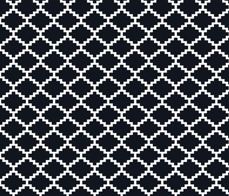 RickRack_Black fabric by walrus_studio on Spoonflower - custom fabric