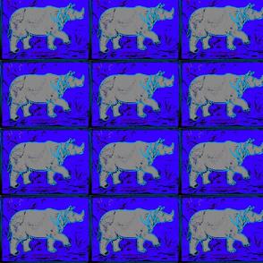 Rhino  - neon blu