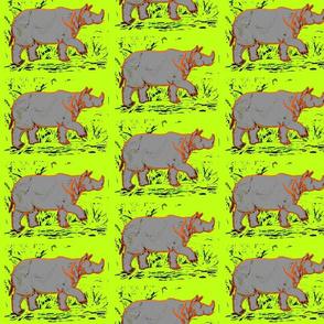 Rhino  - neon yellow