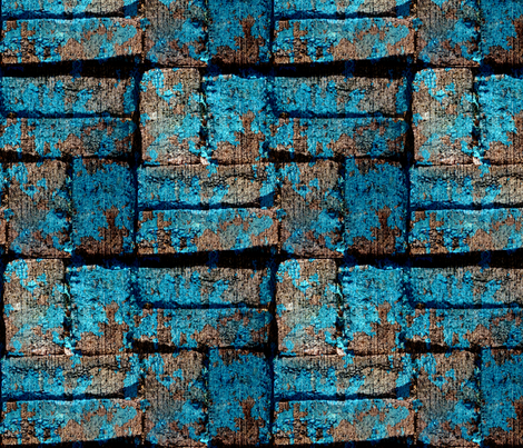 Follow The Urban Blue Brick Road fabric by peacoquettedesigns on Spoonflower - custom fabric