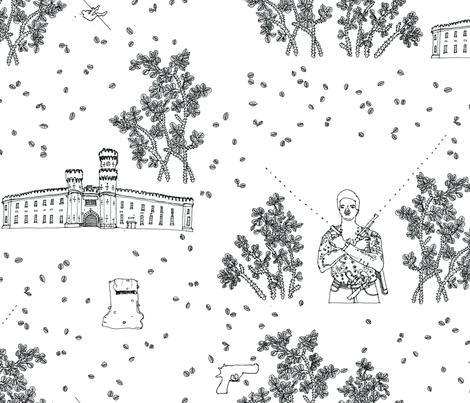 Melbournes Pentridge Prison fabric by missnilsson on Spoonflower - custom fabric