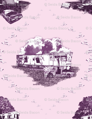 Trailer Trash Toile (Purple & Pink)