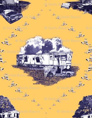 Trailer Trash Toile (Purple & Gold)