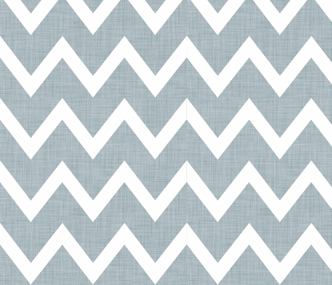 Blue_Linen_Chevron fabric by designedtoat on Spoonflower - custom fabric