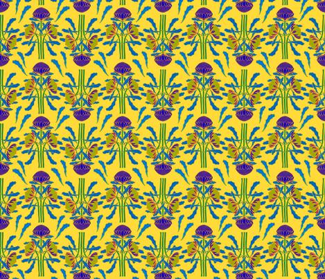 Sunny waratahs for spring by Su_G fabric by su_g on Spoonflower - custom fabric