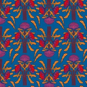 Waratahs on mid-blue by Su_G